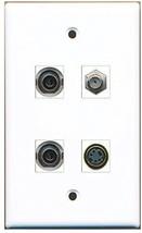 RiteAV  1 Port Coax Cable TV- F-Type 1 Port S-Video 2 Port 3.5mm Wall Plate - $20.88