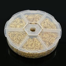 JUMP RING MIX in Handy Container~ GOLD Plated J... - $8.45