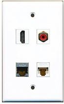RiteAV  1 Port HDMI 1 Port RCA Red 1 Port Shielded Cat6 Ethernet 1 Port Cat6... - $20.88