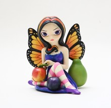 JASMINE B GRIFFITH STRANGELING PEACH PLUM PEAR STATUE FRUITY FAIRY - $24.75