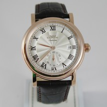 CAPITAL WATCH AUTOMATIC TY2718 MOVEMENT 41 MM PINK CASE ROMAN NUMBER retrò style image 1