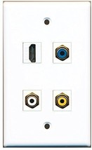 Rite Av  1 Port Hdmi 1 Port Rca White 1 Port Rca Yellow 1 Port Rca Blue Wall ... - $20.88