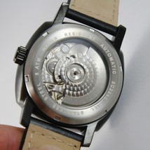 CAPITAL WATCH AUTOMATIC TY2501 MOVEMENT 43 MM BLACK CASE LEATHER BAND image 3