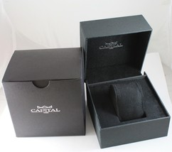 CAPITAL WATCH AUTOMATIC TY2501 MOVEMENT 43 MM BLACK CASE LEATHER BAND image 4