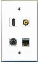 RiteAV  1 Port HDMI 1 Port RCA Yellow 1 Port Shielded Cat6 Ethernet 1 Port 3... - $20.88