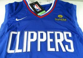 KAWHI LEONARD / NBA MVP / AUTOGRAPHED L.A. CLIPPERS PRO STYLE BLUE JERSEY / COA image 6