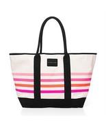 NWT Victoria's Secret White Stripped Beach Tote Travel Bag  - $30.00