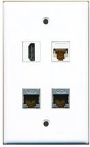 RiteAV  1 Port HDMI 2 Port Shielded Cat6 Ethernet 1 Port Cat6 Ethernet White... - $20.67