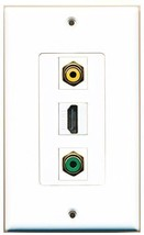 RiteAV  1 Port HDMI - RCA Yellow - RCA Green Decorative  Wall P... - $14.34