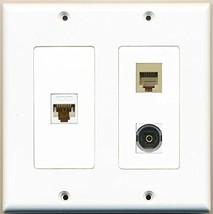 RiteAV  1 Port Phone RJ11 RJ12 Beige 1 Port Toslink 1 Port Cat6 Ethernet Whi... - $21.49