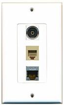RiteAV  1 Port Phone RJ11 RJ12 Beige - Shielded Cat6 Ethernet and 1... - $14.34