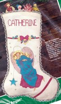 Vintage Bucilla Heavenly Angel Christmas Holiday Cross Stitch Stocking Kit 82319 - $24.95