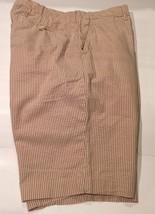 Men's Polo Ralph Lauren Striped 100% Cotton Shorts Size 36 Beige Casual - $19.79
