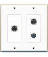 RiteAV  1 Port RCA Blue 2 Port 3.5mm - 2 Gang Wall Plate - $21.28