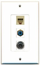RiteAV  1 Port RCA Blue - Phone RJ11 RJ12 Beige - 3.5mm De... - $14.19