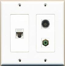 RiteAV  1 Port RCA Green 1 Port Toslink 1 Port Cat5e Ethernet White - 2 Gang... - $21.49