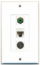 RiteAV  1 Port RCA Green - S-Video - Cat5e Ethernet White ... - $14.34