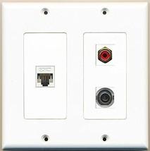 RiteAV  1 Port RCA Red 1 Port 3.5mm 1 Port Cat5e Ethernet White - 2 Gang Wal... - $21.49