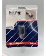 Softalk Twisstop Rotating Phone Cord Detangler, Black - $8.81