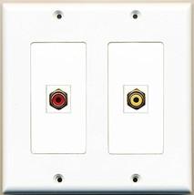 RiteAV  1 Port RCA Red 1 Port RCA Yellow - Dual Gang Wall Plate - $17.75