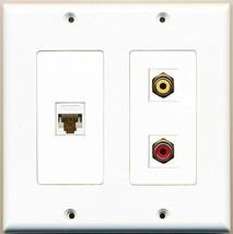 RiteAV  1 Port RCA Red 1 Port RCA Yellow 1 Port Cat6 Ethernet White - 2 Gang... - $21.49