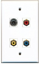 RiteAV  1 Port RCA Red 1 Port RCA Yellow 1 Port RCA Blue 1 Port 3.5mm Wall P... - $20.88