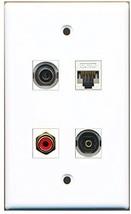 RiteAV  1 Port RCA Red 1 Port Toslink 1 Port 3.5mm 1 Port Cat5e Ethernet Whi... - $20.88