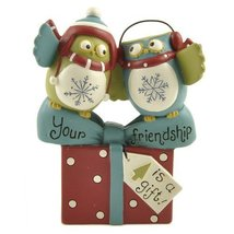 "Blossom Bucket ""Your Friendship"" Present with Owls Figurine [Kitchen] - $49.00"