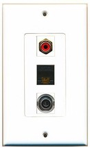 RiteAV  1 Port RCA Red - 3.5mm - Cat6 Ethernet Black Decor... - $14.34