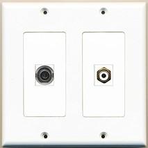 RiteAV  1 Port RCA White 1 Port 3.5mm - Dual Gang Wall Plate - $17.75