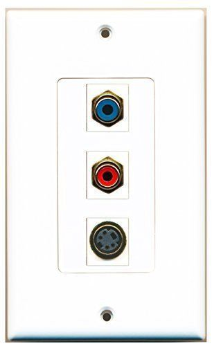 Primary image for RiteAV  1 Port RCA Red - RCA Blue - S-Video Decorative  Wall Pl...
