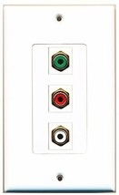 RiteAV  1 Port RCA Red - RCA White - RCA Green Decorative  Wall... - $14.34