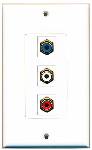 Primary image for RiteAV  1 Port RCA Red - RCA White - RCA Blue Decorative  Wall ...