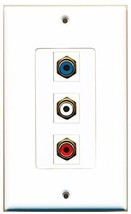 RiteAV  1 Port RCA Red - RCA White - RCA Blue Decorative  Wall ... - $14.34