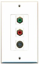 RiteAV  1 Port RCA Red - RCA Green - S-Video Decorative  Wall P... - $14.19