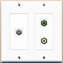 RiteAV  1 Port RCA White 1 Port RCA Green 1 Port Coax Cable TV- F-Type - 2 G... - $21.28