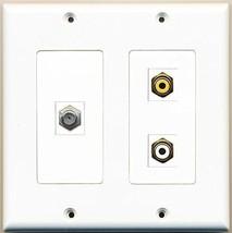 RiteAV  1 Port RCA White 1 Port RCA Yellow 1 Port Coax Cable TV- F-Type - 2 ... - $21.49