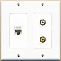 RiteAV  1 Port RCA White 1 Port RCA Yellow 1 Port Cat5e Ethernet White - 2 G... - $21.49