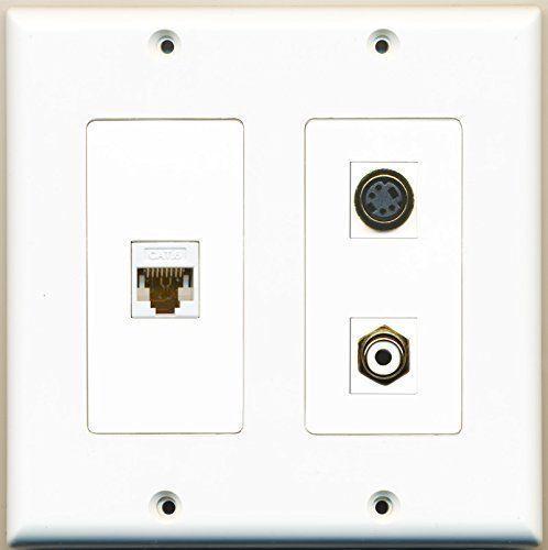 RiteAV  1 Port RCA White 1 Port S-Video 1 Port Cat6 Ethernet White - 2 Gang ... - $21.28