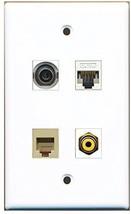 RiteAV  1 Port RCA Yellow 1 Port Phone RJ11 RJ12 Beige 1 Port 3.5mm 1 Port C... - $20.67