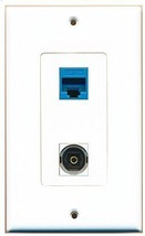 RiteAV  1 Port Toslink 1 Port Cat5e Blue Decorative Type Wall Plate - $13.06