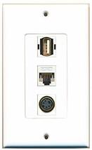 RiteAV  1 Port USB A-A - S-Video - Cat5e Ethernet White De... - $14.34