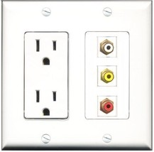 RiteAV  15 Amp Power Outlet 1 Port RCA Red 1 Port RCA White 1 Port RCA Y... - $28.04
