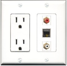 RiteAV  15 Amp Power Outlet 1 Port RCA Red 1 Port RCA White 1 Port Shiel... - $28.04