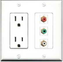 RiteAV  15 Amp Power Outlet 1 Port RCA Red 1 Port RCA White 1 Port RCA G... - $28.04
