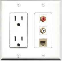 RiteAV  15 Amp Power Outlet 1 Port RCA Red 1 Port RCA White 1 Port Phone... - $28.04