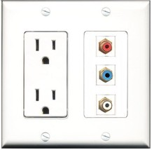 RiteAV  15 Amp Power Outlet 1 Port RCA Red 1 Port RCA White 1 Port RCA B... - $27.76
