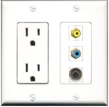 RiteAV  15 Amp Power Outlet 1 Port RCA Yellow 1 Port RCA Blue 1 Port 3.5... - $28.04