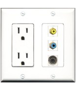 RiteAV  15 Amp Power Outlet 1 Port RCA Yellow 1 Port RCA Blue 1 Port 3.5... - $28.04