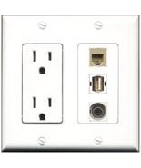 RiteAV  15 Amp Power Outlet 1 Port USB A-A 1 Port Phone Beige 1 Port 3.5... - $28.04